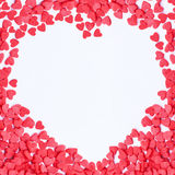 Walentynek serc rama Zdjęcie Stock