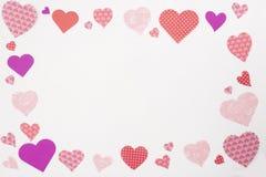 Walentynek serc rama Obrazy Royalty Free