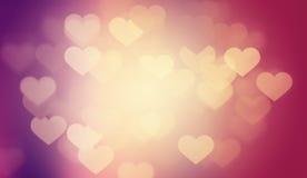 Walentynek serc tło Zdjęcia Stock