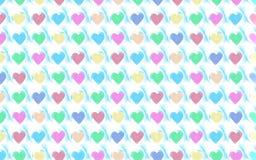 Walentynek serc tła wzór Zdjęcie Stock