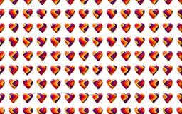 Walentynek serc tła wzór Obraz Stock