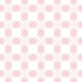 Walentynek serc wzór Bezszwowy wzór z kreskowymi sercami Obraz Stock