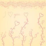 Walentynek serca Zdjęcie Stock