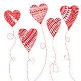 Walentynek serca Fotografia Royalty Free
