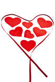 Walentynek serca otaczający faborkiem. Fotografia Royalty Free