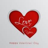 Walentynka dnia świętowania kartka z pozdrowieniami Obraz Stock