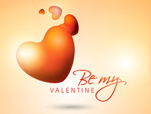 Walentynka dnia świętowanie z sercami i tekstem Zdjęcie Royalty Free