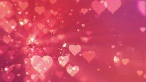 Walentynka dnia abstrakcjonistyczny tło, loopable zbiory wideo