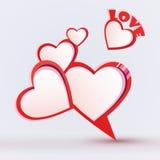 Walentynka dnia bąbla mowa Obraz Royalty Free