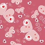 Walentynka dnia bezszwowy wzór Zdjęcia Royalty Free