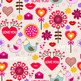 Walentynka dnia Bezszwowy wzór Obrazy Stock