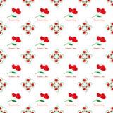 Walentynka dnia bezszwowy wzór, kwiatów serca Obraz Royalty Free