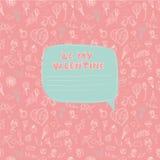 Walentynka dnia bezszwowy wzór z miejscem dla twój teksta messag Zdjęcia Royalty Free