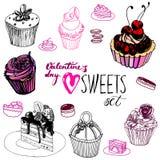 Walentynka dnia cukierki ustawiający Fotografia Royalty Free