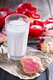Walentynka dnia cukrowi ciastka z kropią obrazy stock