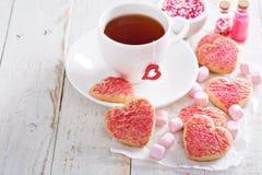 Walentynka dnia cukrowi ciastka z kropią zdjęcie royalty free