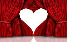 Walentynka dnia Czerwone zasłony Na bielu ilustracja wektor