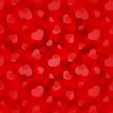 Walentynka dnia czerwony bezszwowy wzór z sercami Wektor EPS-10 Obraz Stock