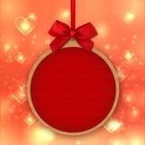 Walentynka dnia dekoracja, majcher, etykietka, etykietka, mockup szablony, miłość sztandar ilustracji