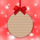 Walentynka dnia dekoracja, miłość majcher, etykietka, etykietka, mockup szablony, sztandar royalty ilustracja