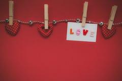 Walentynka dnia dekoracje i tło miłość kształt, ge Fotografia Stock