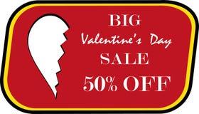 Walentynka dnia duża sprzedaż Obraz Stock