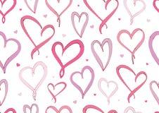 Walentynka dnia Fiołkowych serc bezszwowy wzór Zdjęcia Royalty Free