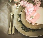 Walentynka dnia gość restauracji Zdjęcia Royalty Free