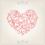 Walentynka dnia gratulacj karta wektor Obrazy Royalty Free