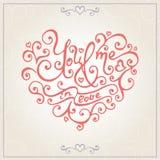 Walentynka dnia gratulacj karta wektor Obrazy Stock
