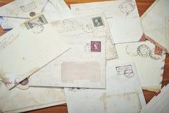 Walentynka dnia grunge stary list Zdjęcie Royalty Free