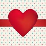 Walentynka dnia hearth karta Zdjęcia Royalty Free