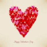 Walentynka dnia hearth retro karta Fotografia Stock