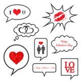 Walentynka dnia ilustracj ikony set ilustracji