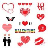 Walentynka dnia ilustracj ikony set ilustracja wektor