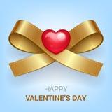 Walentynka dnia ilustracja Faborek z sercem Obraz Royalty Free