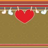 Walentynka dnia ilustracja z sercami. Obrazy Stock