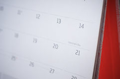 Walentynka dnia kalendarz Zdjęcie Stock