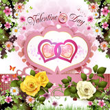 Walentynka dnia karta ilustracja wektor