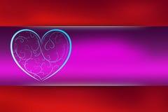 Walentynka dnia karta Zdjęcia Royalty Free