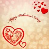 Walentynka dnia karta Fotografia Royalty Free