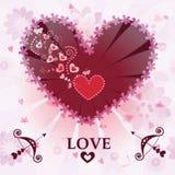 Walentynka dnia karta Fotografia Stock