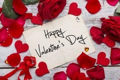 Walentynka dnia karta Obrazy Stock