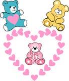Walentynka dnia karta, dziecko prysznic Obraz Stock