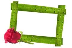 Walentynka dnia karta i fotografii rama Zdjęcie Stock
