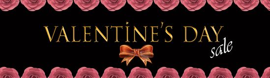 Walentynka dnia karta i sprzedaży karta zdjęcia stock