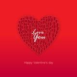 Walentynka dnia karta, walentynki, kocham ciebie, kartka z pozdrowieniami Zdjęcia Stock