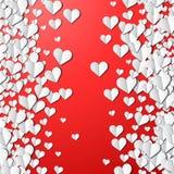 Walentynka dnia karta z cięcie papieru sercami ilustracja wektor