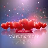 Walentynka dnia karta z serca ans błyska Zdjęcia Royalty Free