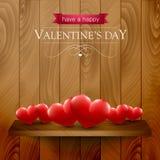 Walentynka dnia karta z sercami Obrazy Stock